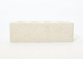 Лицьова цегла Літос євро формат «Магма» пустотіла Біла
